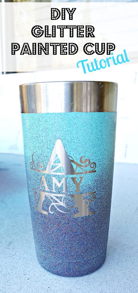 Spray Painting A Stainless Steel Mug Leap Of Faith Crafting - Vinyl cup care instructions