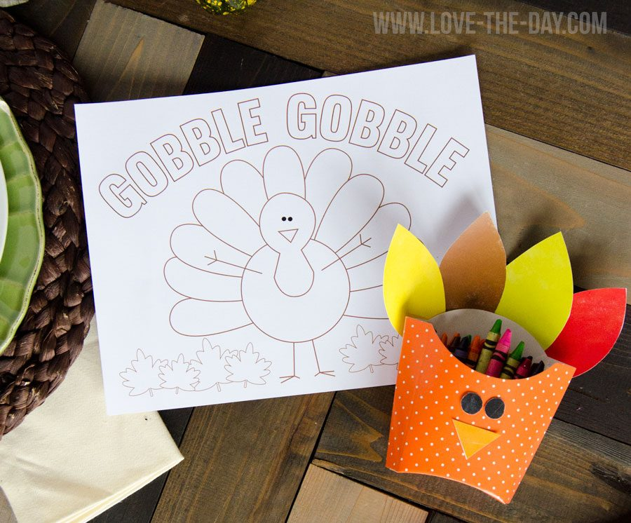 thanksgiving color sheet