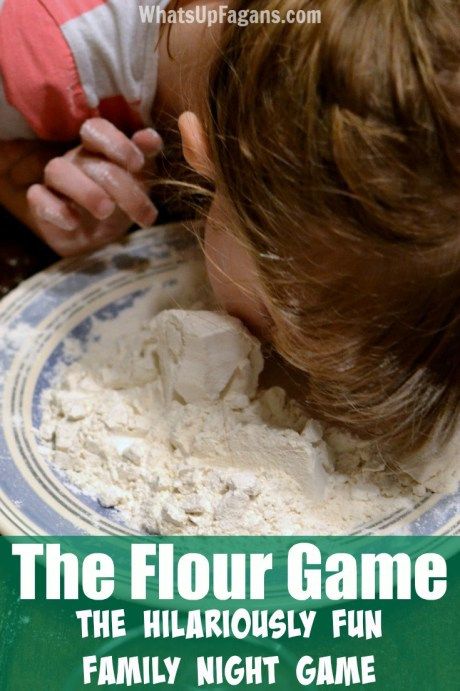 the flour game finding the coin in flour pin