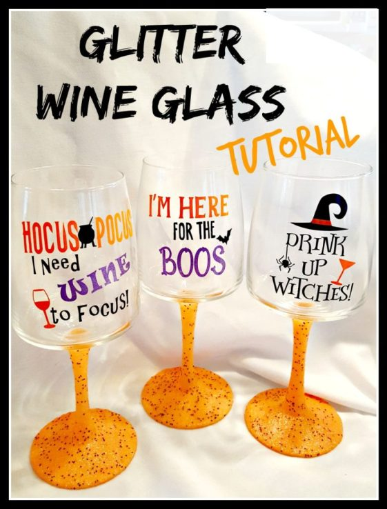 Learn How To Make Glitter Wine Glasses Leap Of Faith