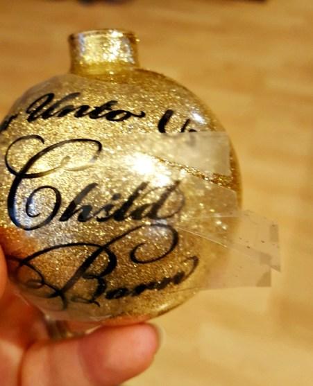 glitter vinyl ornaments