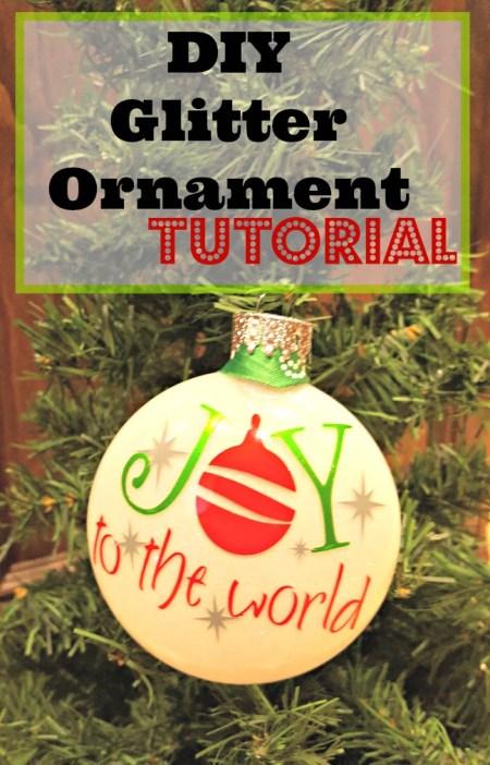 diy glitter ornament tutorial
