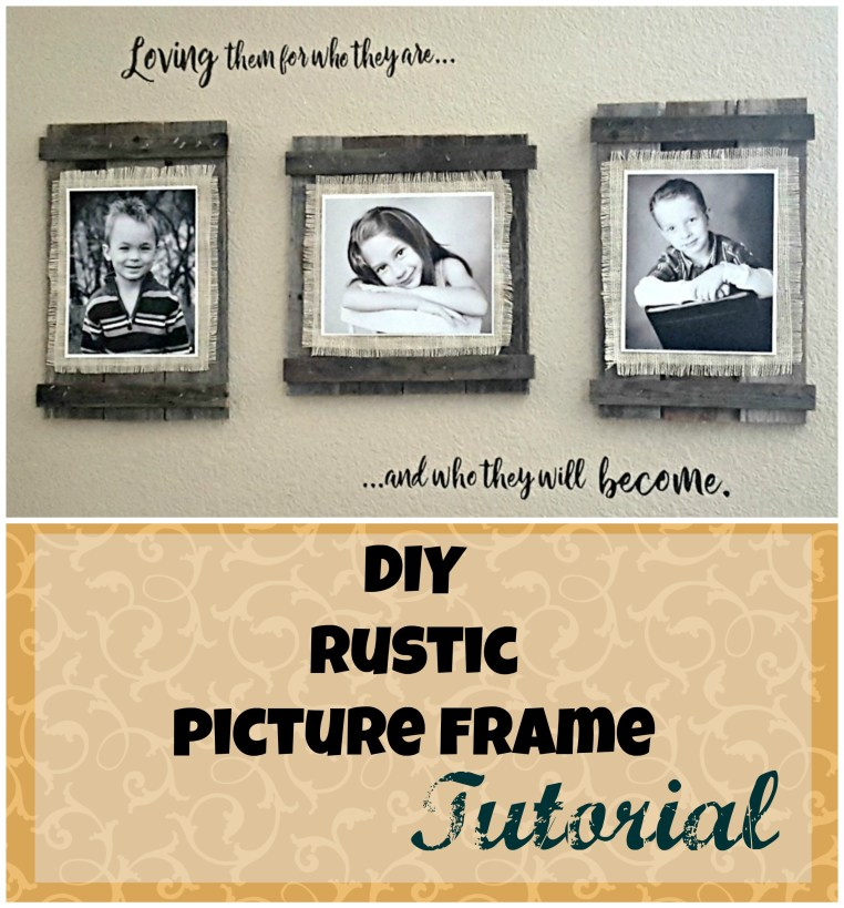 diy rustic farmhouse picture frame tutorial