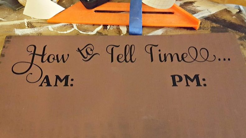 DIY how to tell time wine sign
