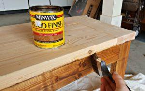 DIY wood bench tutorial