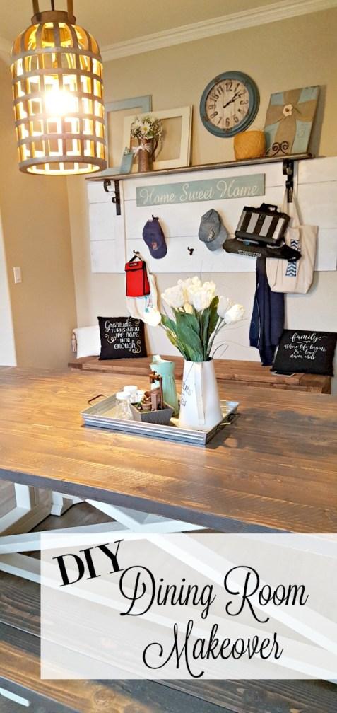 dining room makeover diy furniture