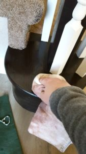 General Finishes gel stain banister staircase tutorial