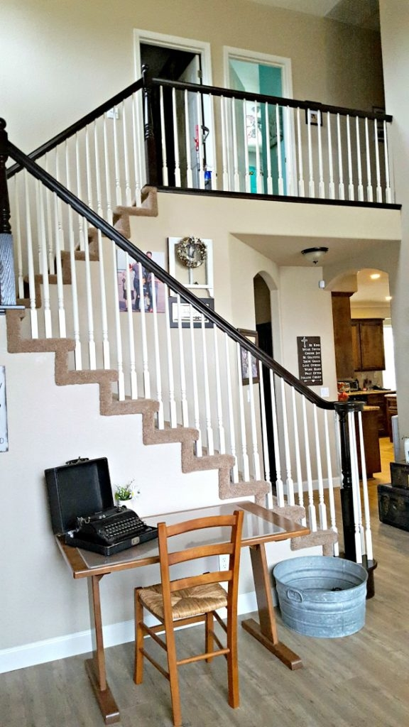 Staircase Refinishing The Easy Way And For Under 50 Leap Of | Cost To Restain Stair Railing | Spindles | Refinishing Hardwood Stairs | Baluster | Sanding | Paint