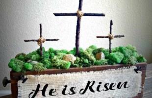 DIY Easter Cross Decoration