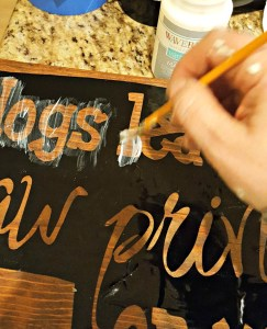 diy pet dog wood sign