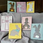 DIY Easter wood sign table decor