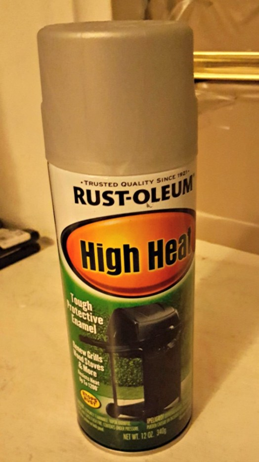 Rust-oleum high heat silver spray paint