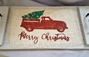 Painting on Burlap with Freezer Paper Tutorial