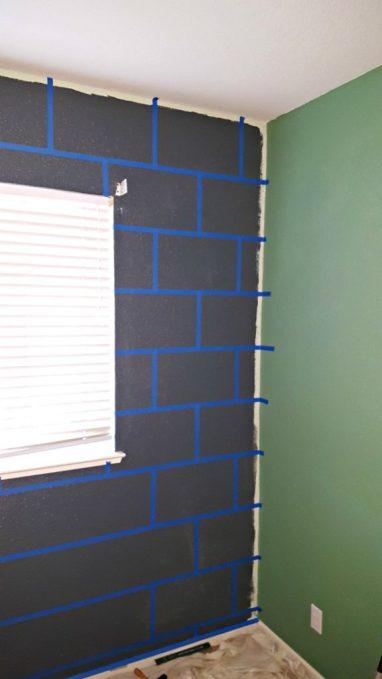DIY Minecraft bedroom block wall paint tutorial