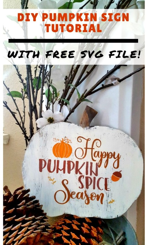 DIY Pumpkin wood sign tutorial