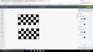 Cricut DIY checkerboard