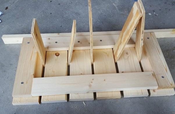 DIY coffee table storage bench tutorial