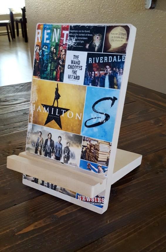 teen gift idea wooden phone stand