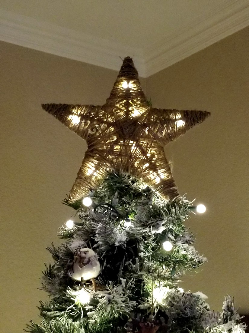 diy tree topper from dollar tree items leap of faith. Black Bedroom Furniture Sets. Home Design Ideas