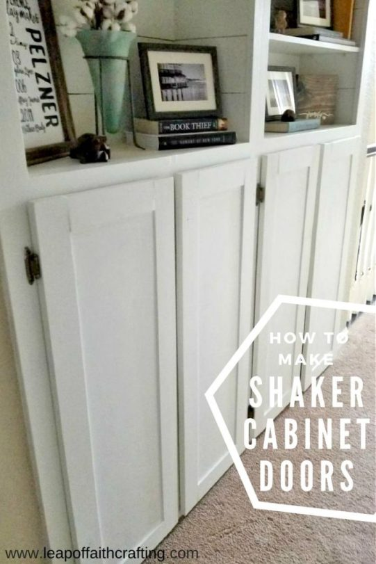 the easiest way to make shaker cabinet doors! - leap of faith crafting