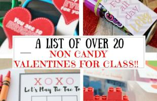 Non Candy Valentines for Class Roundup: A List of Over 20!