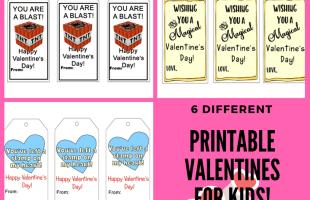 Printable Valentines for Kids
