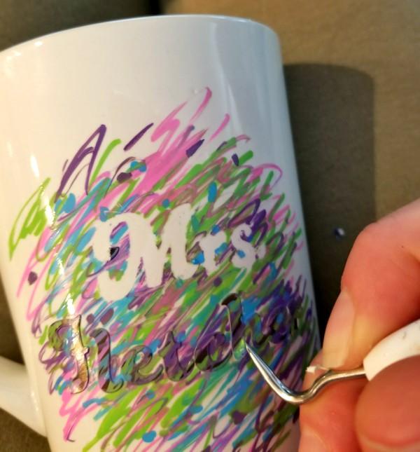 sharpie on mug