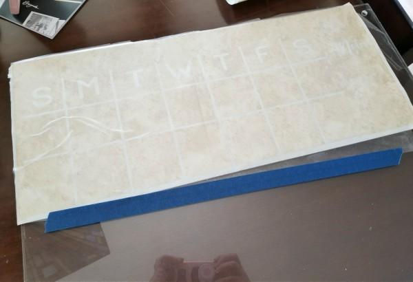 acrylic wall calendar diy dry erase board