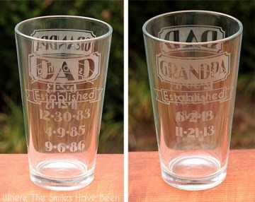 dad grandpa established etched glass complete