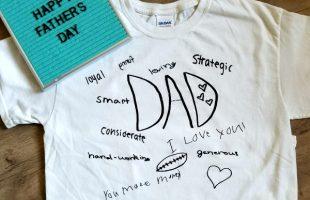 Easy Dad Gift! DIY Dad Shirts