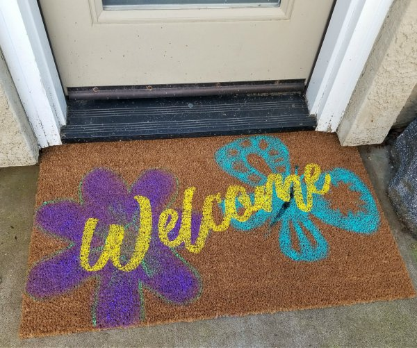 Make Your Own Doormat Easy Diy Tutorial Leap Of Faith