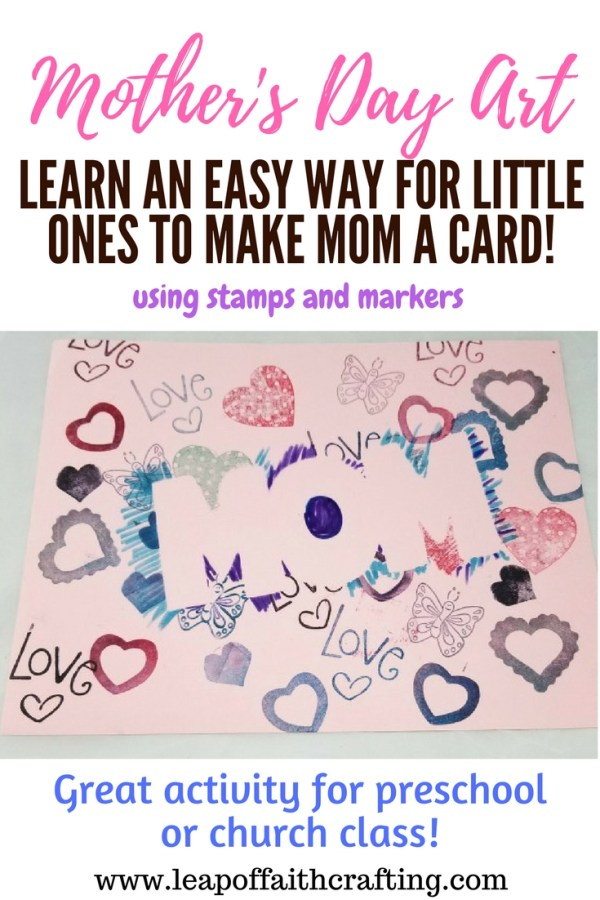 preschool mother's day cards