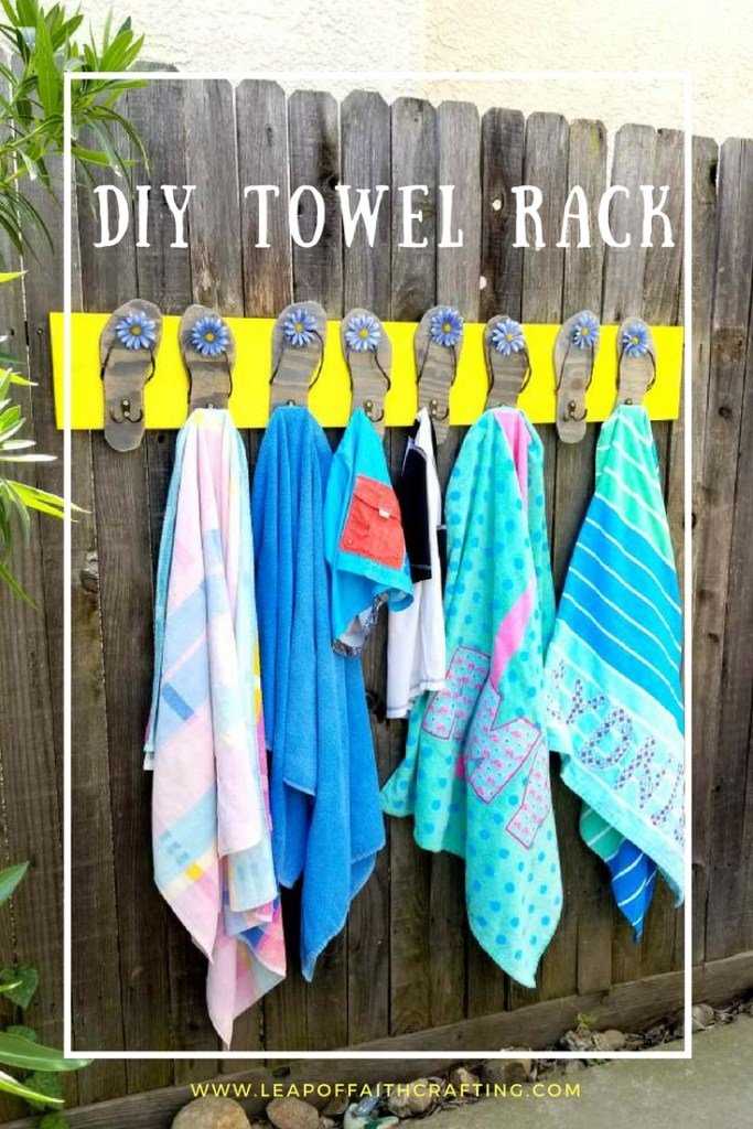 diy towel rack