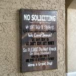 no soliciting sign diy