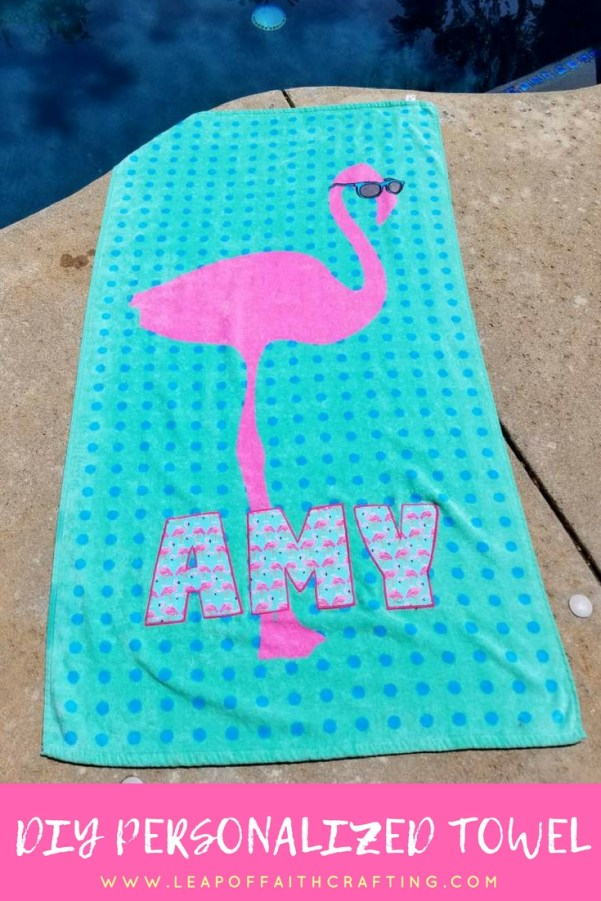 personalised pool towel diy pin