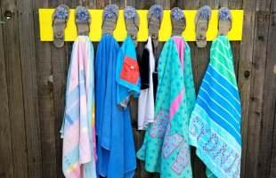 Pool Towel Rack with Flip Flops DIY Tutorial!