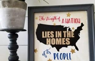 Free Cut Files – DIY Patriotic Themed Reverse Canvas Sign!