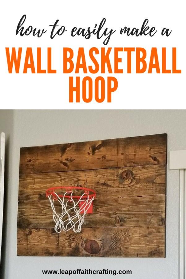 wall basketball hoop diy pin