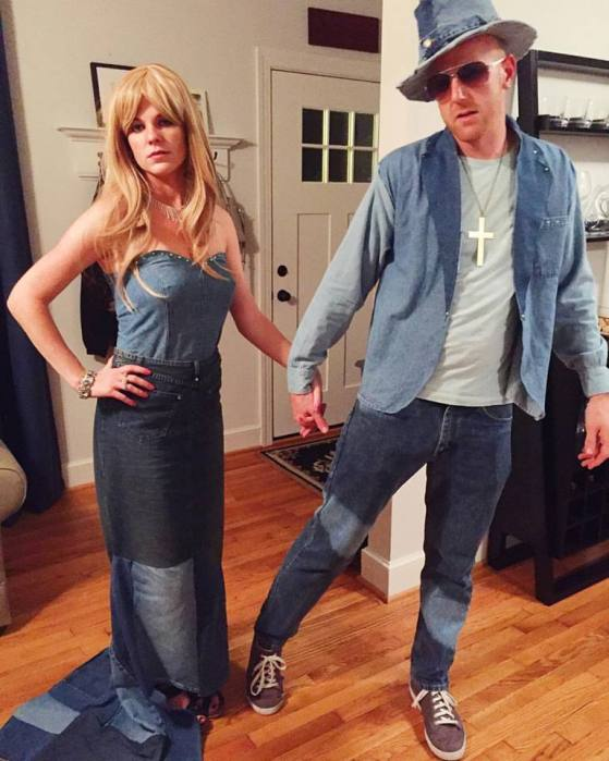 diy britney spears and justin timberlake denim vmas halloween costume charleston crafted