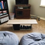 Easy DIY Coffee Table Using Recycled Household Items!