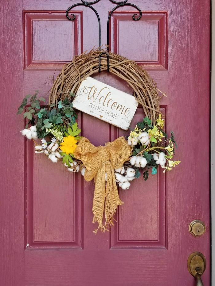 diy summer wreath