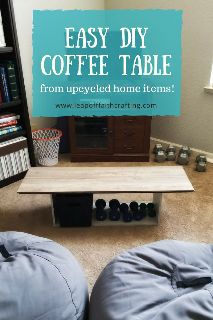 easy diy coffee table using recycled
