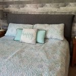 DIY Padded Headboard:  No Sew and Cheap!