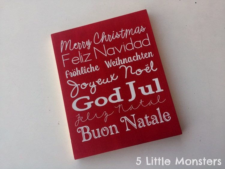 christmas around the world sign