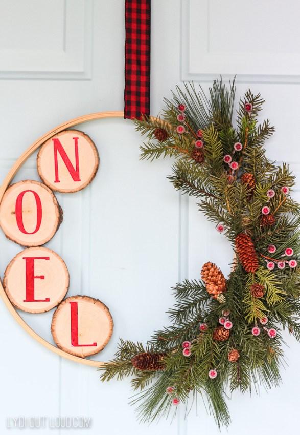 christmas embroidery hoopwreath