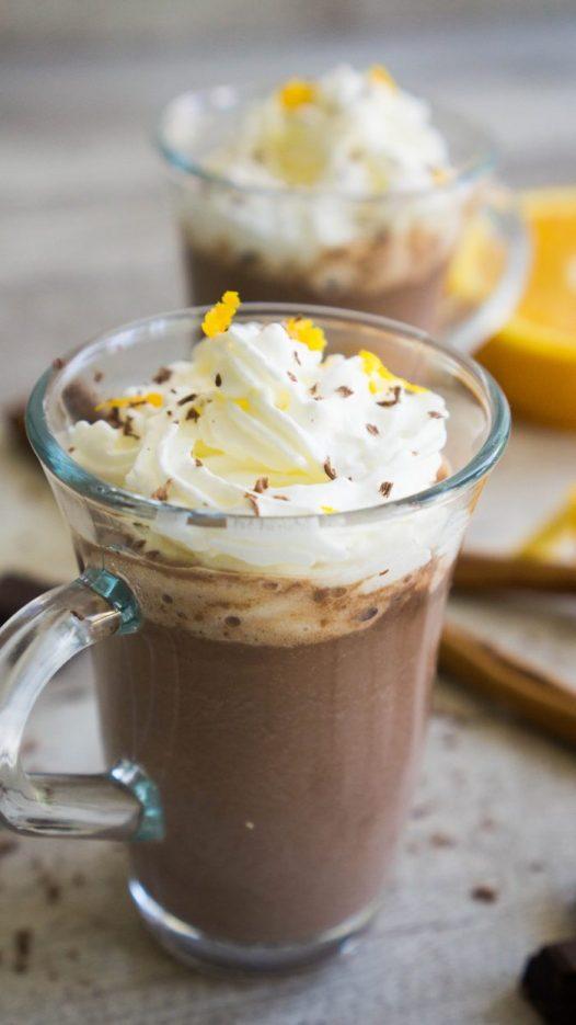 cointreau orange hot chocolate x