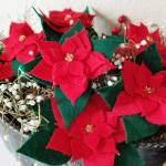 How to Easily Make Pretty Felt Poinsettias with a Free File!