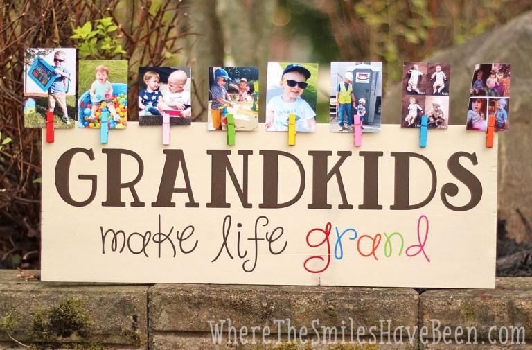 grandkids make life grand wood sign final horizontal