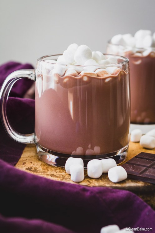 paleo vegan hot chocolate homemade mix with sugar free low carb option