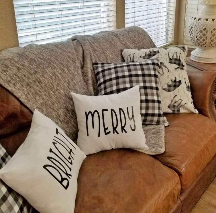 rae dunn christmas pillows diy